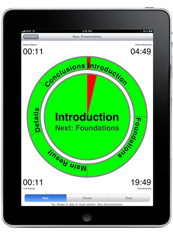 Timer With Sections for iPad