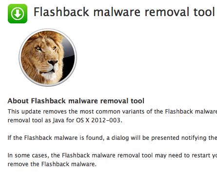 flashback malware remooval tool