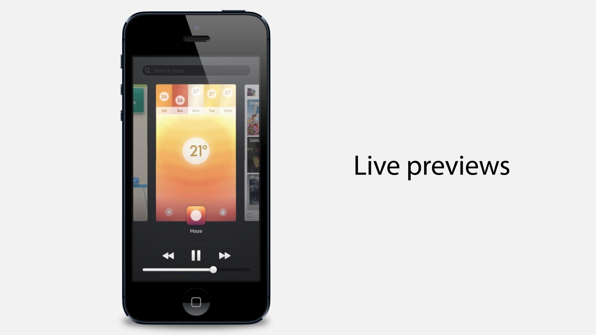 iOS 7 App Switcher Concept: Multitasking Redesign