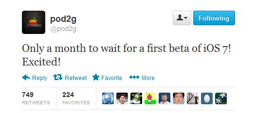 iOS 7 beta 1 sẽ ra mắt vào tháng tới