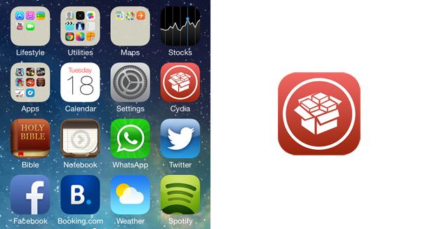 Cydia có biểu tượng mới trên iOS 7