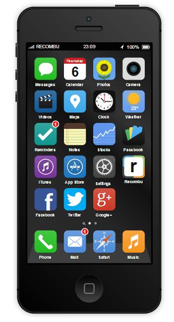 Giả lập ý tưởng iOS 7 trên iPhone 5S