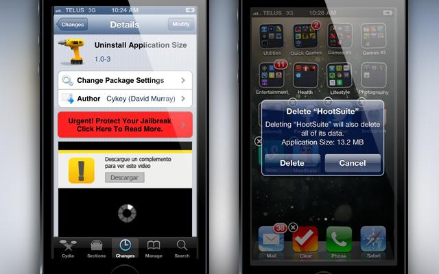 Uninstall-Application-Size-Cydia-Tweak