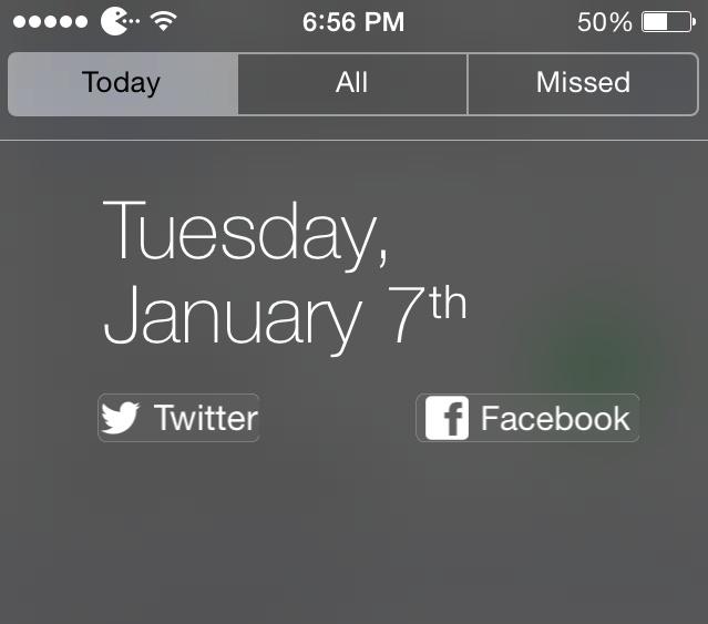 Share Widget for iOS 7