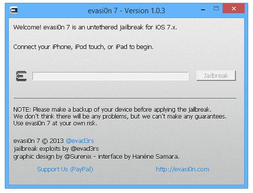 Evasion7 1.0.3 jailbreak iOS 7.1 beta 3