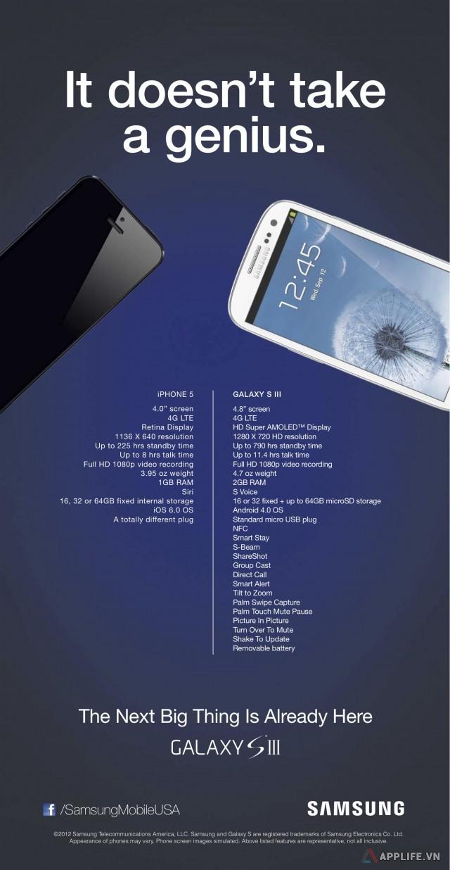 Một quảng cáo tập trung vào dìm iPhone 5