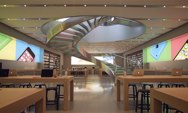 Một cửa hàng Apple Store Omotesando tại Tokyo, Nhật Bản