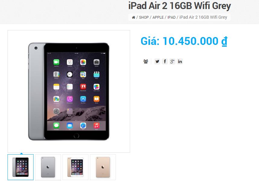 Người dùng phổ thông ở Việt Nam bắt đầu dễ dàng tiếp cận với các sản phẩm vốn đắt tiền như iPad