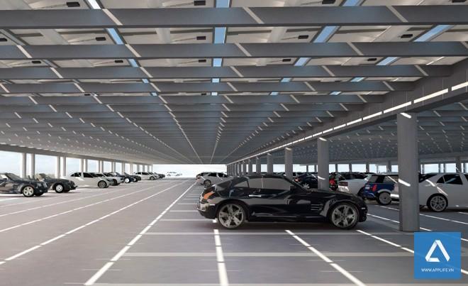 Bãi đậu xe có sức chứa lớn - Ảnh: Wired