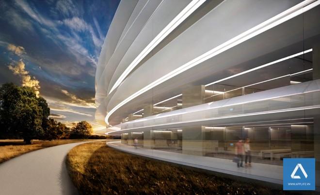 Lối đi bộ viền quanh theo vòng tròn - Ảnh: Wired