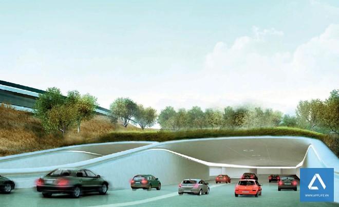Đường vào bãi đậu xe ngầm - Ảnh: Wired