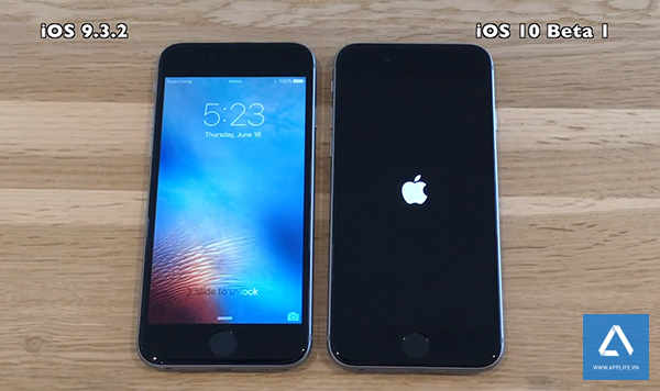 So sánh tốc độ iOS 9.3.2 và iOS 10 beta 1 trên iPhone 6s, 6, 5s, 5