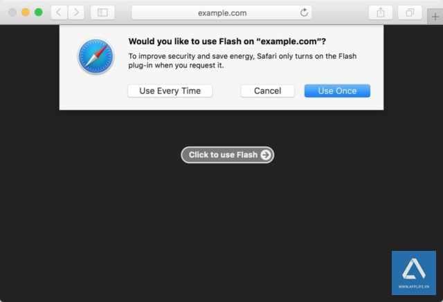 Safari 10 trên macOS Sierra