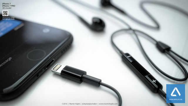 iPhone 7 với tai nghe Lightning hoàn toàn mới (Ảnh ý tưởng)