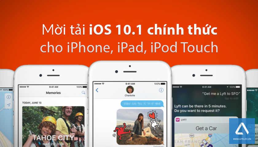 Link tải trực tiếp iOS 10.1