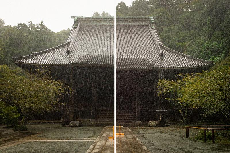 Ảnh chụp bằng iPhone 7 (trái) và Leica M9-P (phải)