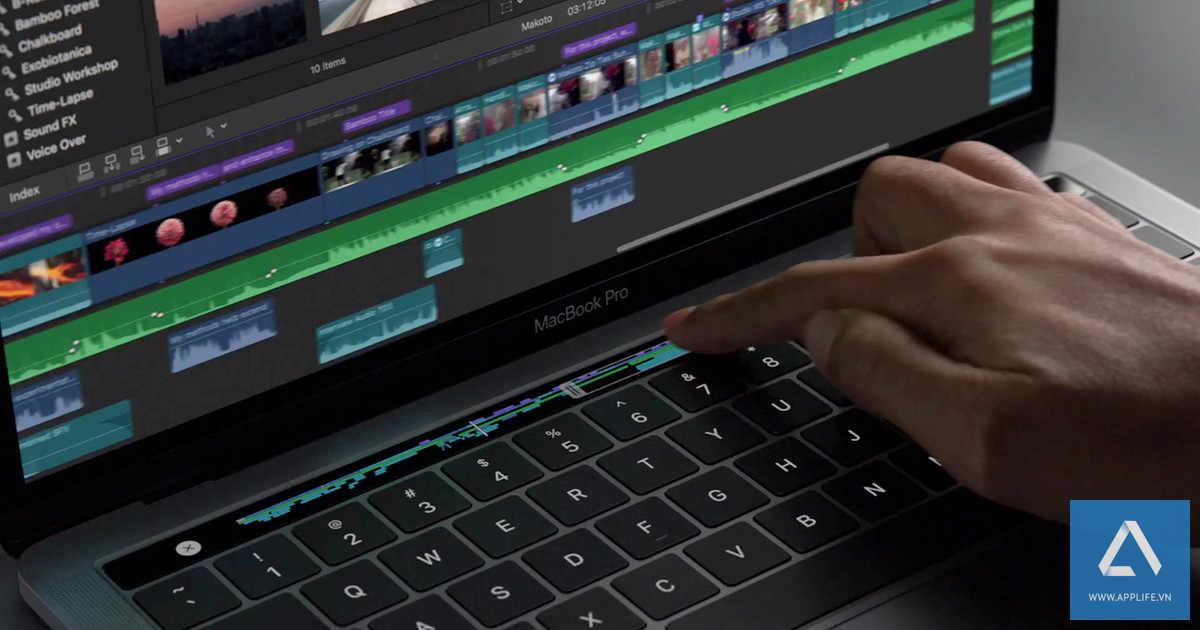 Touch Bar tích hợp thêm Touch ID trên MacBook Pro