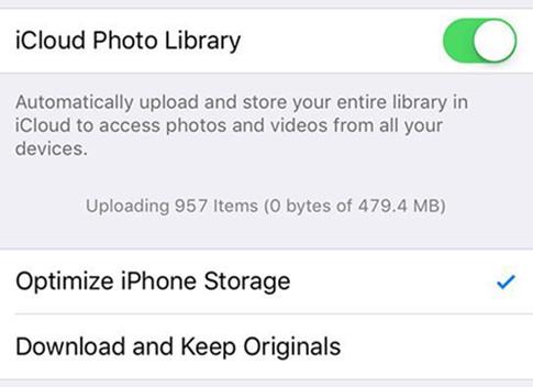 Optimize iPhone Storage khá hữu dụng để giảm tải bộ nhớ trong khi lưu trữ ảnh trên iPhone