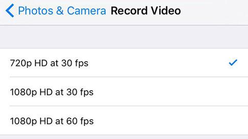 Chọn chất lượng video ở độ phân giải thấp sẽ giảm không gian chiếm dụng
