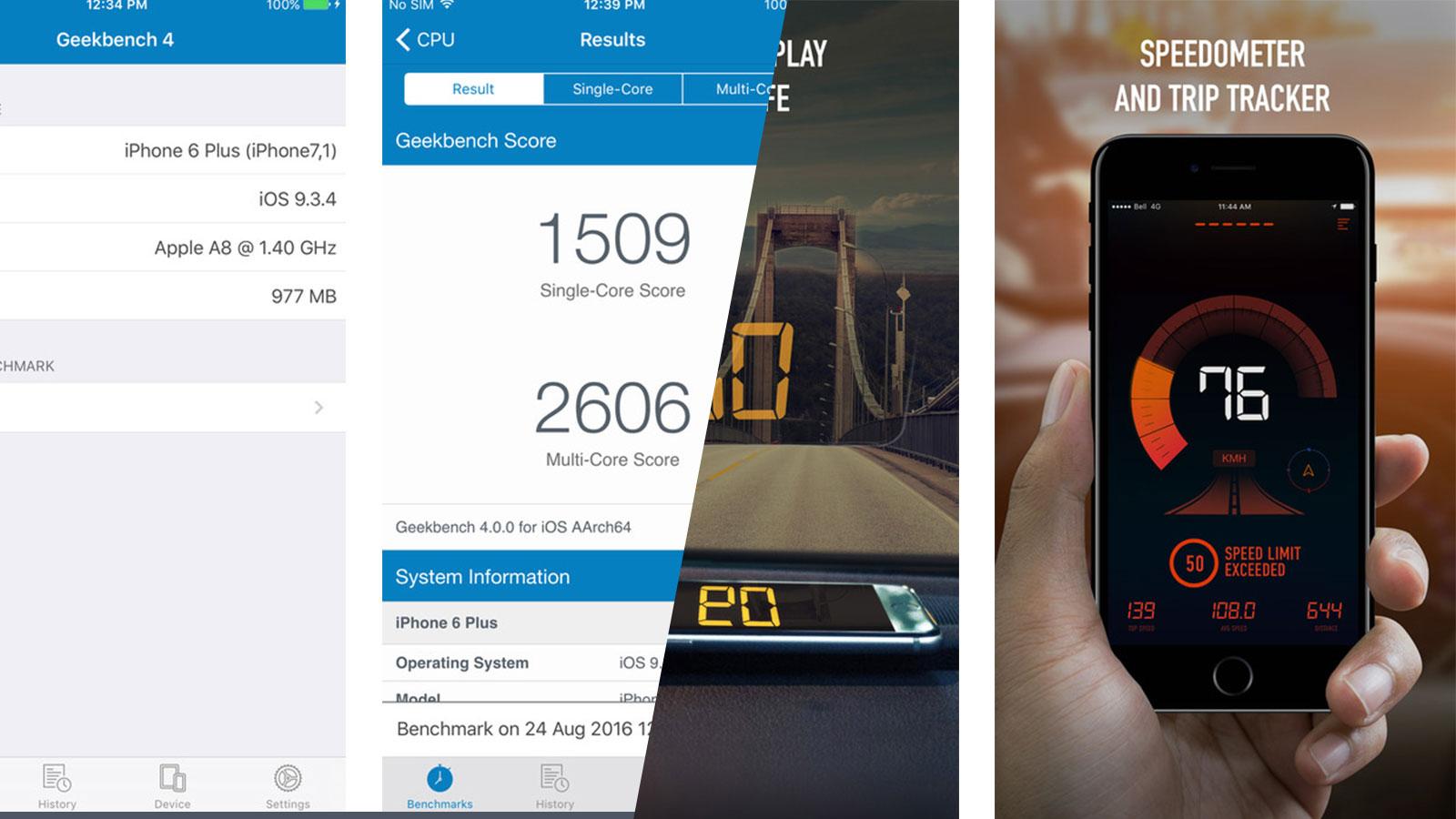 Mời tải GeekBench và Speedometer: 2 app miễn phí trên App Store