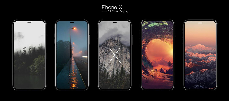 Thiết kế thể hiện khả năng hiện thị trên iPhone X (iPhone 8)