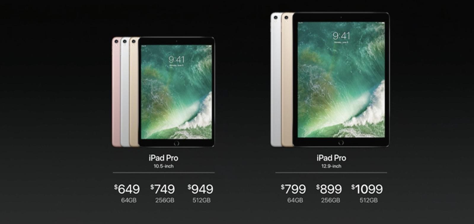 Giá khởi điểm của iPad Pro 10.5 inch