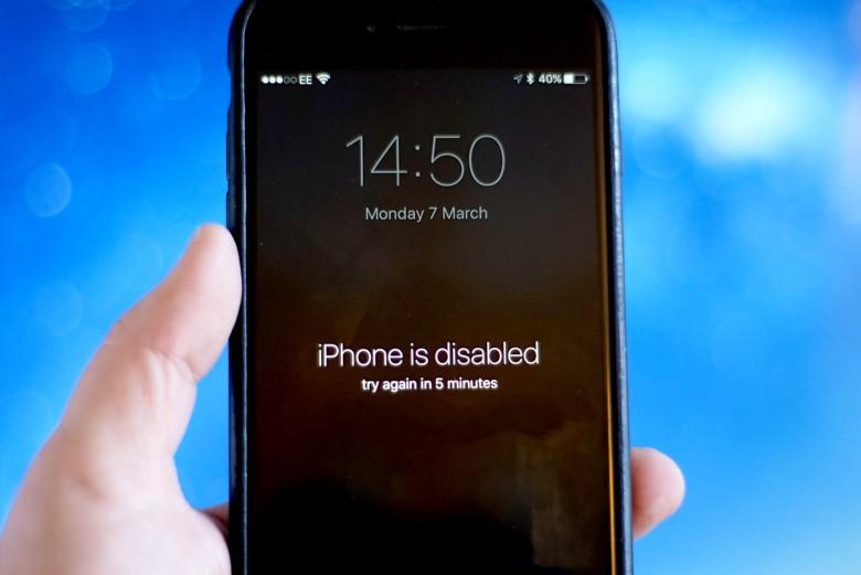 iPhone vô hiệu hóa