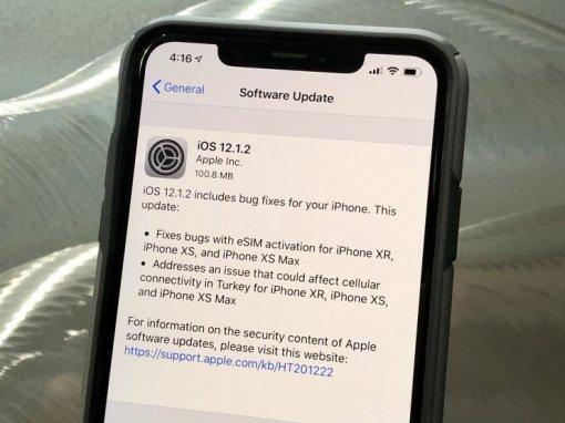 Link tải iOS 12.1.2 cho iPhone [Build 16C104]