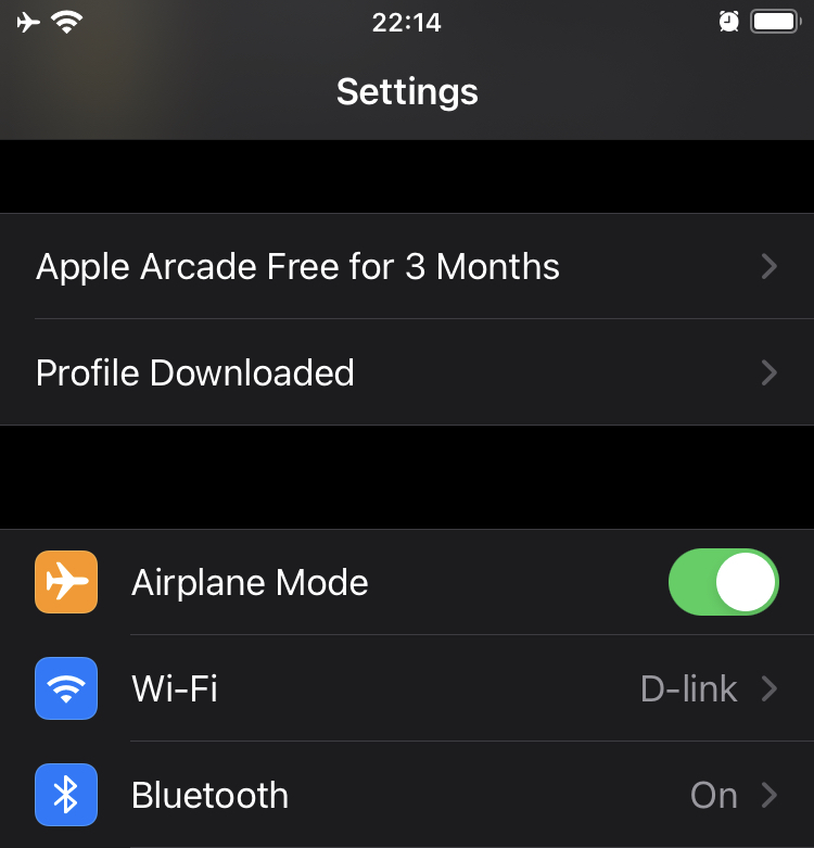 iOS 15 Downloaded Profile
